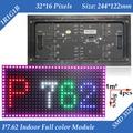 Wholesale 100pcs/lot P7.62 Indoor 1/8 Scan 3in1 RGB Full color LED display Screen module 244*122mm 32*16 pixels
