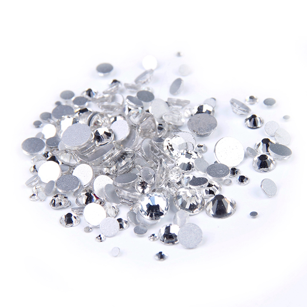 Super Deal Shiny Strass Clear Crystal Rhinestones 1440PCS SS3 to SS10 Non Hotfix For Nails Art Backpack Design Decorations сумка женская милитари