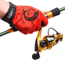 New LEO font b Gloves b font for Fishing Three Figner Comfortable Anti Slip Fishing font