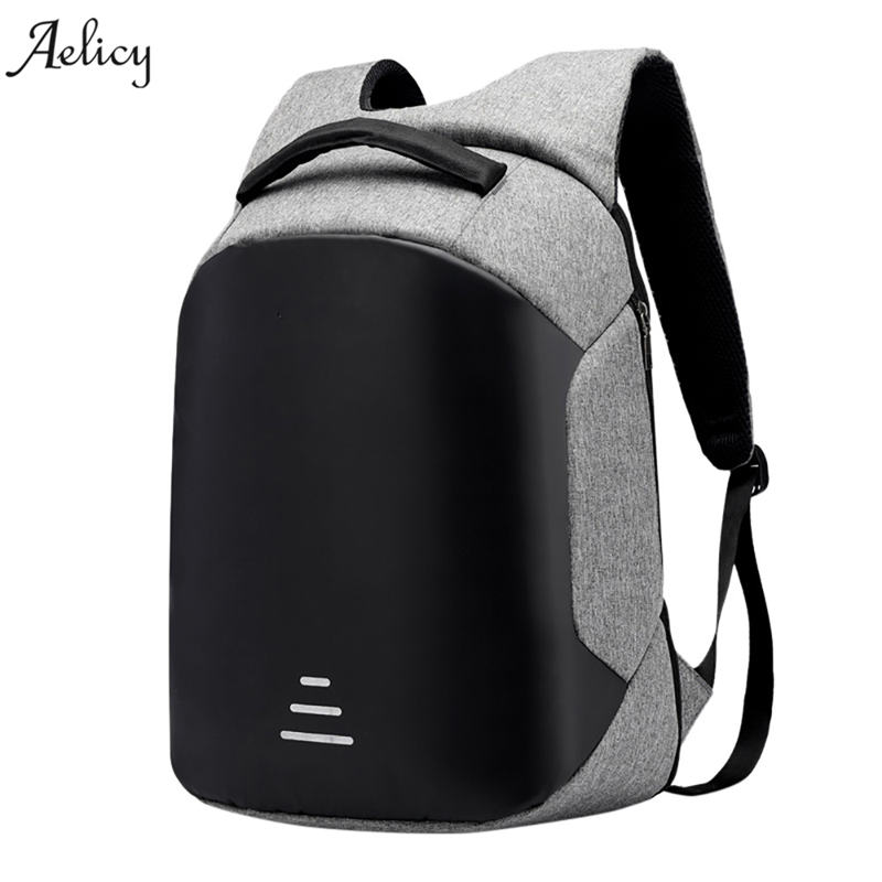 Aelicy Multifunction USB Charging Men Laptop Backpacks For Teenager Fashion Male Mochila Waterproof Travel Anti-Theft Backpack