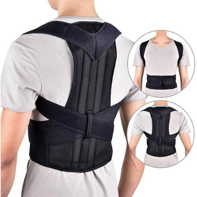 Cintura entrenador volver Corrector de postura hombro Lumbar soporte columna correa de soporte ajustable adulto corsé postura corrección cinturón
