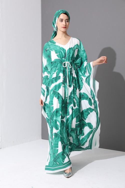 Arrivée Sexy V Imprimer Robe Empire Grand As Lâche souris Manches Dentelle Cou Pic Long 2018 Chauve Up Vintage Nouvelle Swing Femmes 1YxXF1dq