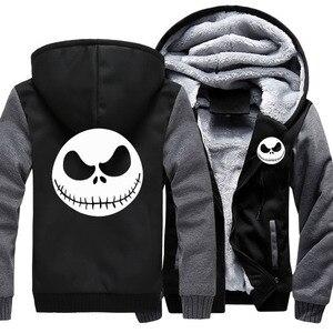 Image 1 - Mens Thicken Hoodie Nightmare Before Christmasแจ็คSkellingtonซิปเสื้อแจ็คเก็ตเสื้อแจ็คเก็ตเสื้อลำลองแขนยาวลำลองHooded