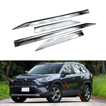 Fit For Toyota RAV4 AX40 2019 ABS Chrome Side Door Line Garnish Body Trim Accent Molding Cover Bezel Styling Protector 4Pcs/set