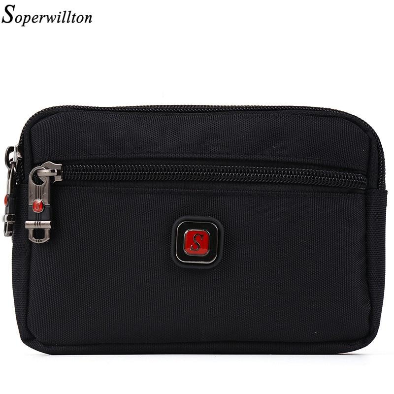 Soperwillton Brand 2020 Fanny Pack Men Women Waist Bag Wateproof 1680D Oxford Waist Packs Mobile Phone Bag For Male Female #J808
