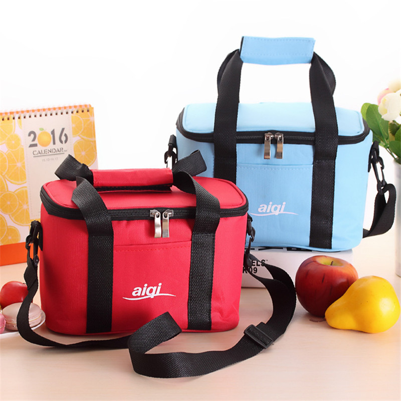 Large Capacity Oxford Cloth Insulation Bag Baby Diaper Milk Bottles Food Tote Bag Cooler Insulated Zippered Containers Handbag