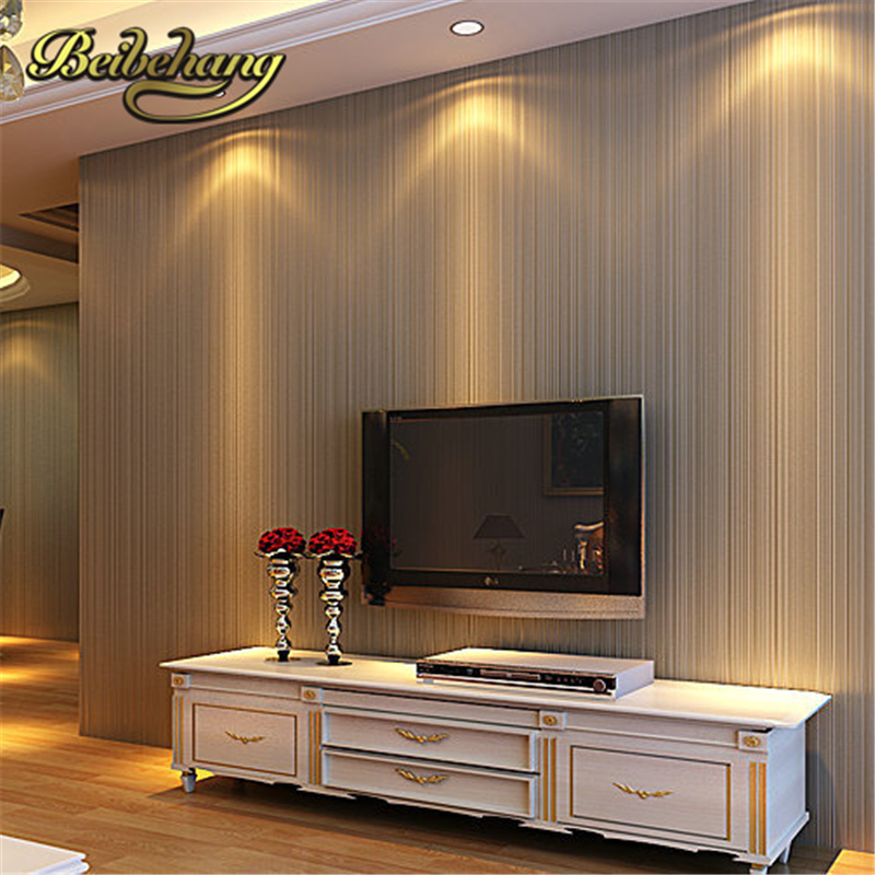 beibehang Top Quality Fabric Mural wallpaper modern striped flock wall paper papel de parede tapete bedroom white,beige,coffee european vintage mural wallpaper wood striped flock wall paper papel de parede tapete decor coffee shop