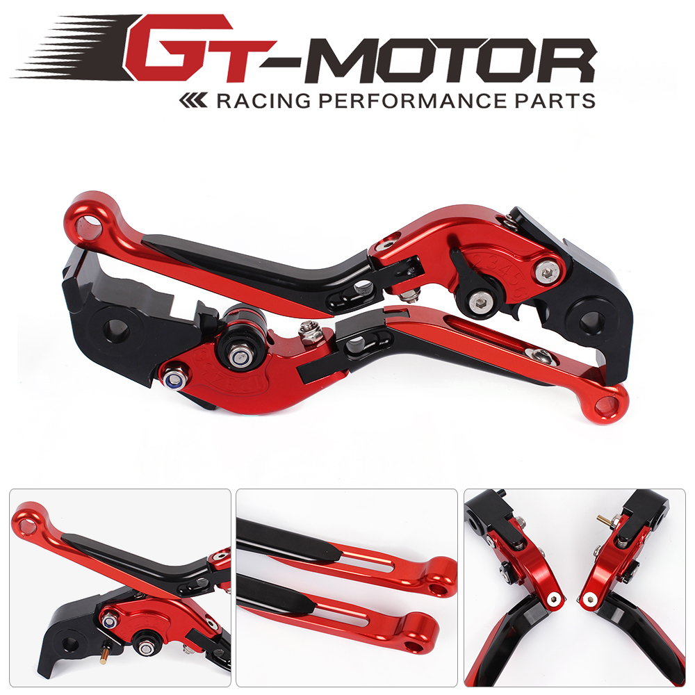 GT Motor -F-11/H-11 Adjustable CNC 3D Extendable Folding Brake Clutch Levers For DUCATI STREETFIGHTER 848	12-15 999/S/R 03-06 gt motor f 16 dc 80 adjustable cnc 3d extendable folding brake clutch levers for moto guzzi breva 1100 norge 1200 gt8v
