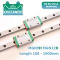 CNC части MGN9 MGN12 100-1000 мм миниатюрные линейные направляющие 2 шт. MGN линейные направляющие + 2 шт. MGN9H или MGN12H каретки 3D принтер