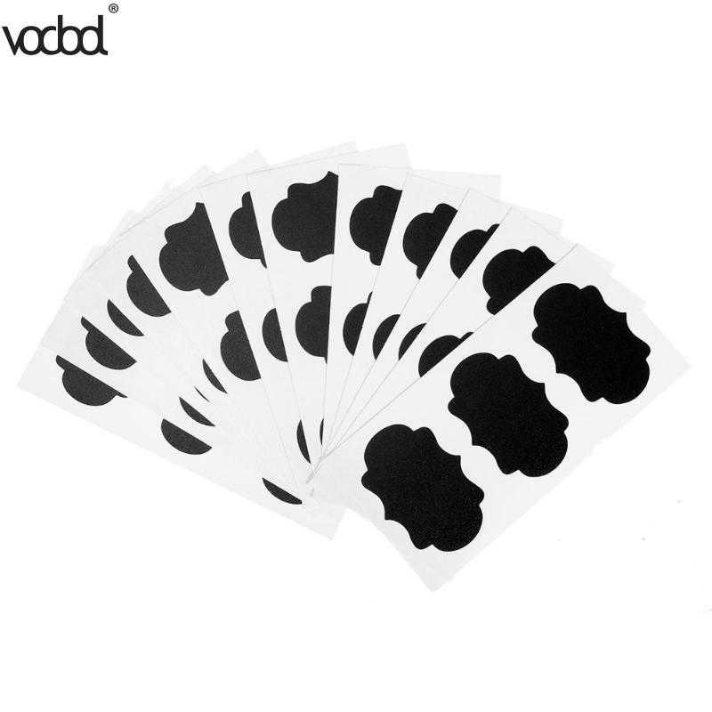 36Pcs/Lot PVC Chalkboard Black Decals Wall Sticker Labels Canisters Kitchen Jar Kid Teac ...