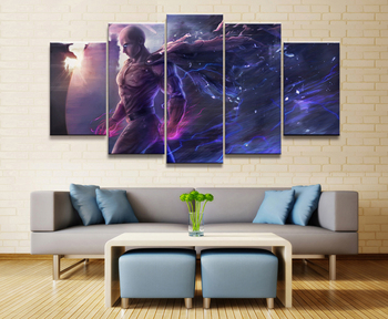 Home Decor Modular Canvas Picture 5 Piece ONE PUNCH-MAN Animation Art Painting Poster Wall For Home Canvas Painting Wholesale 1