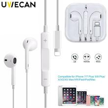 Official Original Earphone For iPhone 7 8 7 Plus 8 Plus X XR XS Max In Ear Stereo Earphone with Microphone Sport Earbud Earphone fiio f3 dynamic in ear monitors earphone with in line microphone and remote controls 3 5mm l shaped jack colorful earbud