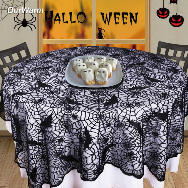 Superieur Ourwarm Table Cloth For Halloween Table Decoration Spider Web Bats Table  Cover Happy Halloween Decoration Prop