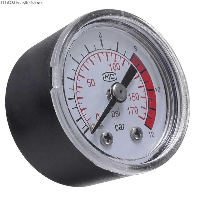 Compresor de aire Neumático Hidráulico medidor de presión de fluido 0-12Bar/0-170PSI Venta caliente