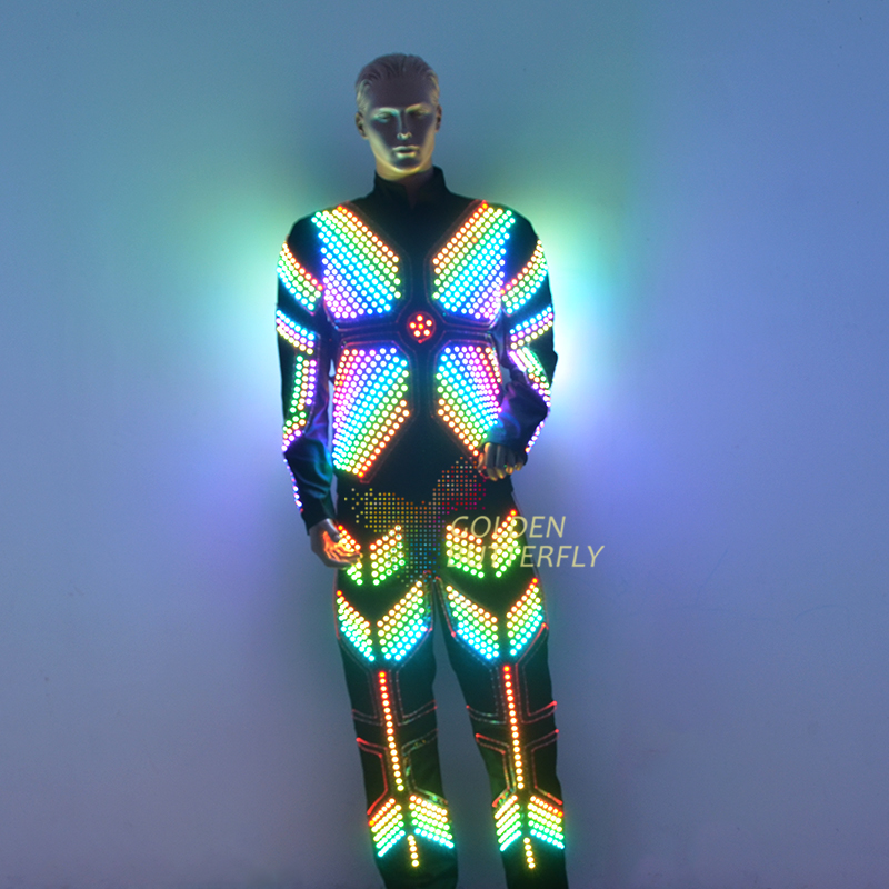 LED Clothing Glowing Luminous Suits Costumes 2017 Hot Fashion Twinkle Star Men LED Clothes Pants Dance Accessories Free Shipping