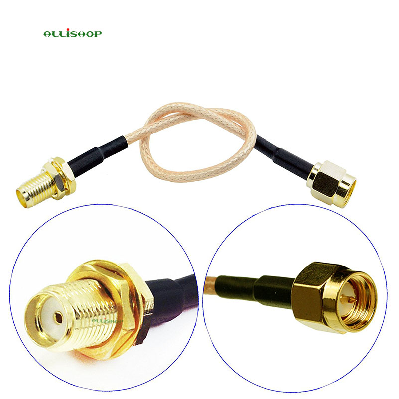 ALLiSHOP 0-6Ghz pigtail SMA male brooches plug to SMA female socket jack low loss RG316 cable for GPS, FPV Antenna, GSM, GPRS allishop sma male plug to rp sma female jack coaxial pigtail cable adapter connector 20m rg174