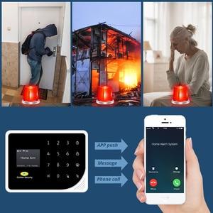 Image 3 - Sécurité dorée russe espagnol anglais S5 WIFI GSM sécurité maison système dalarme GSM APP contrôle Kit dalarme