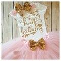 Personalizado meia Aniversário Minnie Mouse glitter Meninas bodysuit Ouro rosa tutu saias baby shower aniversário presentes de Ano Novo