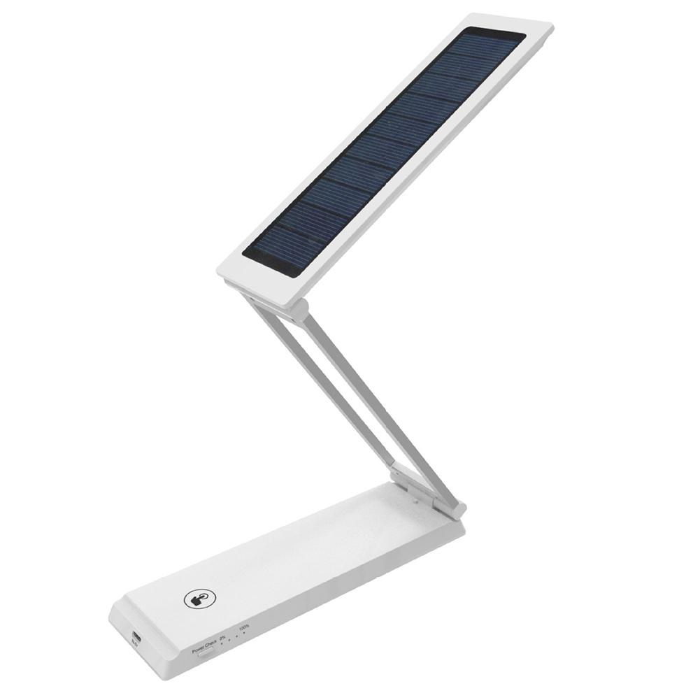 Portable Solar / USB Charging 2 in 1 Multifunctional Desk Lamp Foldable Adjustable LED Table Lamp Reading Light