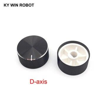 1 pcs 25x13mm 6mm Shaft Hole Aluminum Alloy Potentiometer Knob Black (D-axis) conductive plastic potentiometer bi 6187 110a r1k axis 6mm