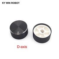 potentiometer knob 1 pcs 25x13mm Aluminum Alloy Potentiometer Knob Black (D-axis) (1)