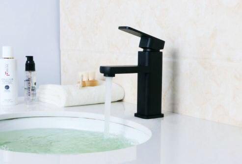 Kraan Badkamer Zwart : Antieke olie gewreven badkamer zwart bar kraan badrandcombinaties