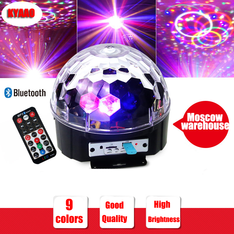 fast shipping christmas magic ball 9 colors music halloween laser light new year projector for home party bluetooth crystal ball