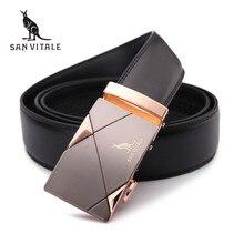 Men's Luxury Genuine Leather Automatic Buckle Belt