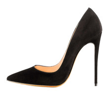Stilettos Schwarze Schuhe Frau High Heels Sexy Frauen Pumpt 12 CM High Heel Sexy Frauen Schuhe High Heel Pumps Zapatos Mujer FS-0030