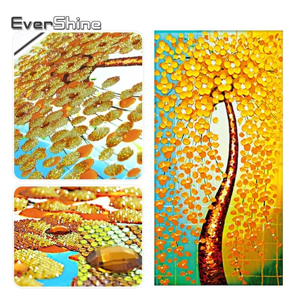 EverShine Diamond Painting Special Shaped Diamond Embroidery Set Tree Pictures Of Rhinestones 3D Diamond Mosaic Wall Decoration