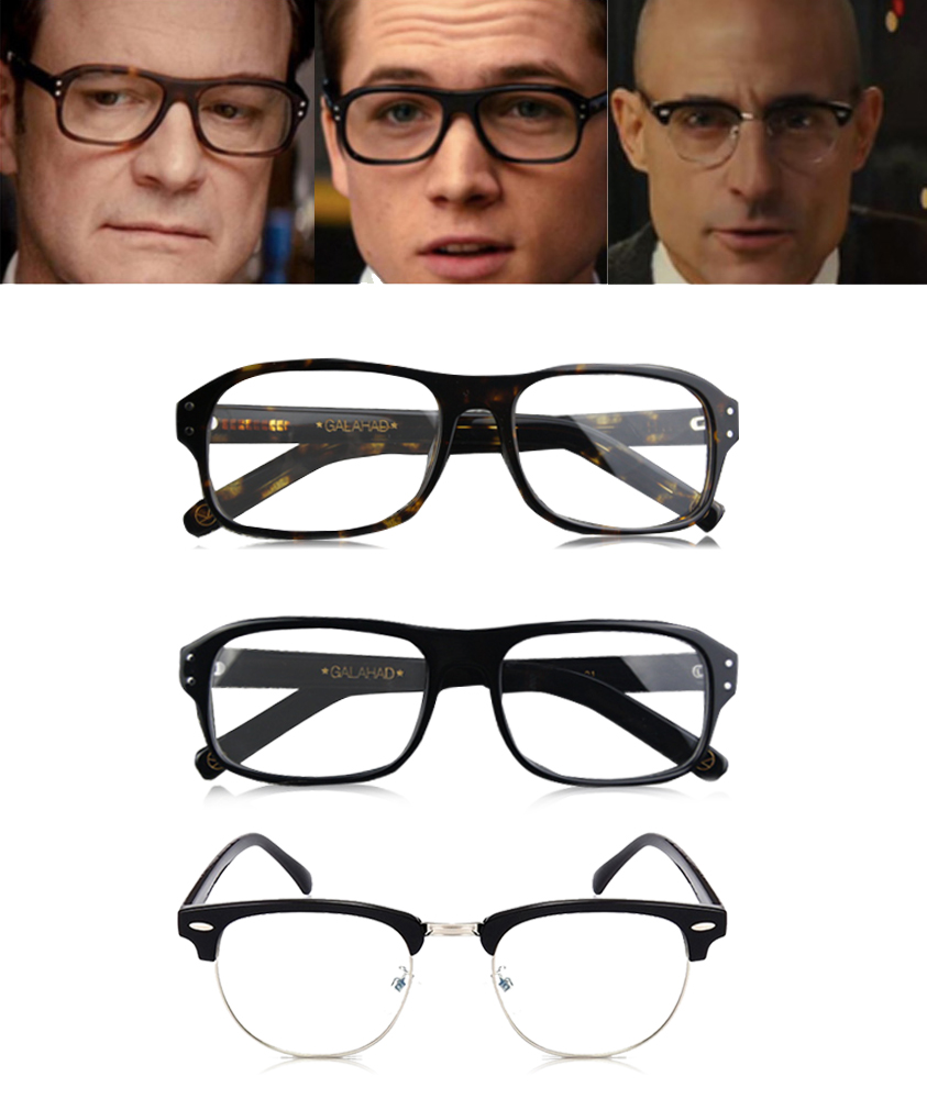 Movie Kingsman: The Golden Circle Harry Hart Merlin Eggsy Cosplay Eyewear Glasses Eyeglasses Sunglasses Cosplay Accessories
