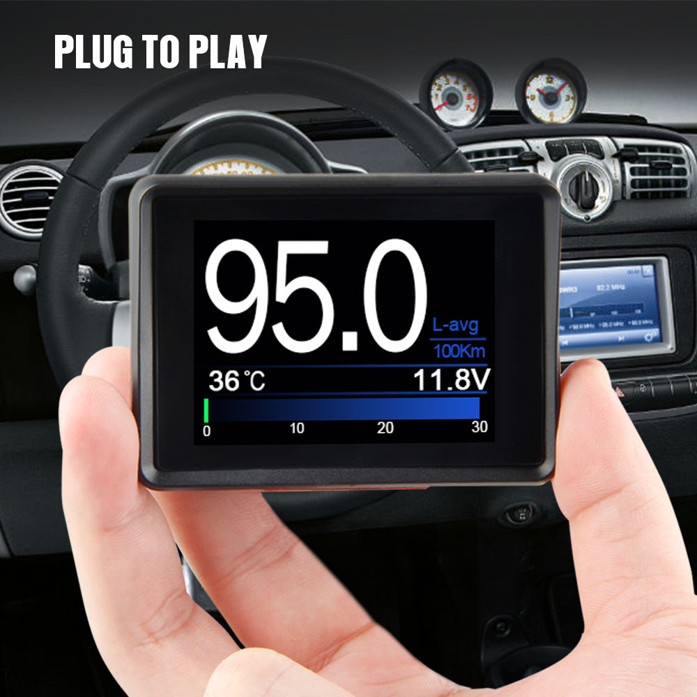 Image 5 - Automobile On board Computer A203 Car Digital OBD Computer Display Speedometer Fuel Consumption meter Temperature Gauge OBD2-in Code Readers & Scan Tools from Automobiles & Motorcycles