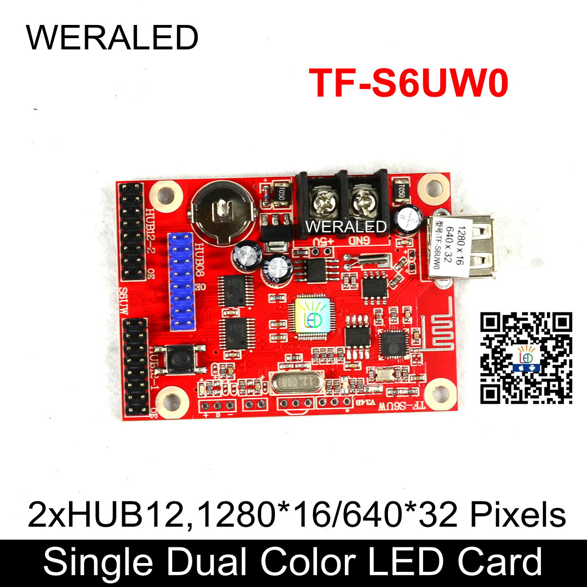Aliexpress Hot Selling TF-S6UW0 P10 LED Module Panel LED Message Signboard Control Card,USB-DISK & WIFI Wireless P10 Controller