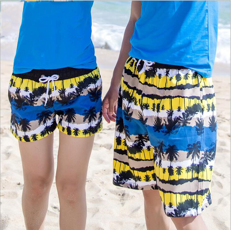 Couple   board     shorts   swimming trunks fast dry joggers running mens women swimsuit beach surfing boardshort sport Fitness bermudas