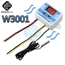W3001 Temperature Controller Digital LED AC 90-250V 110V 220V Thermometer Thermo Controller Switch Probe Max 10A NTC10K Sensor(China)