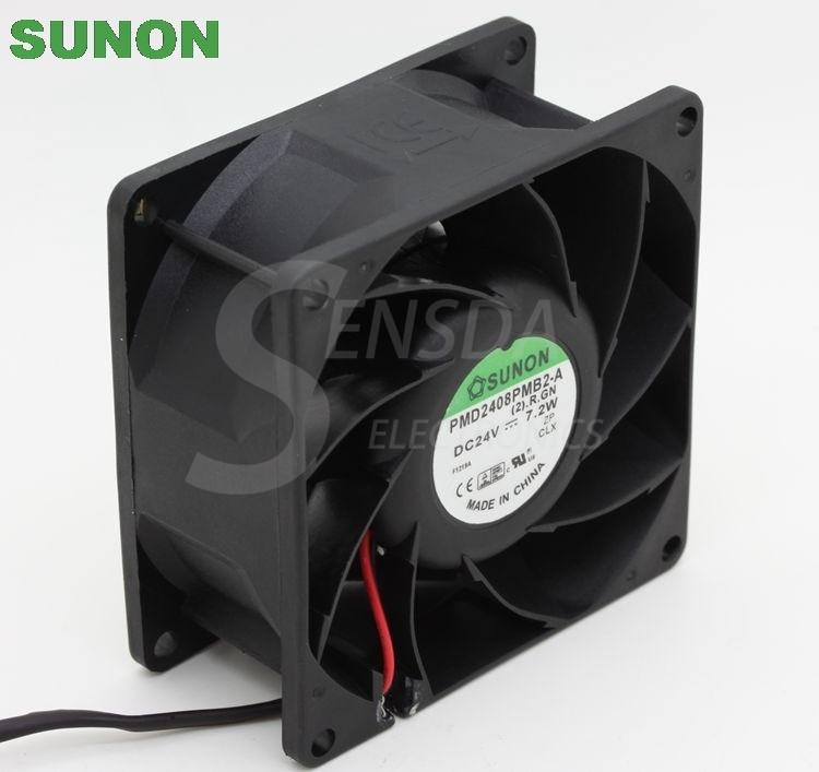 Sunon PMD2408PMB2-A DC 24v 7.2w Cpu Cooler Heatsink Axial Cooling Fans 8038 80x80x38mm 8cm 80mm