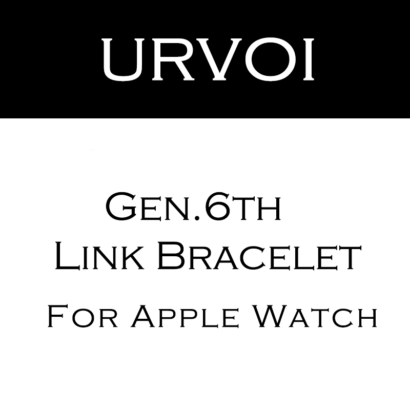 URVOI link bracelet band for apple watch series 4 5 3 2 1 strap for iWatch 44mm adjustable high quality stainless steel   gen.6 | Fotoflaco.net