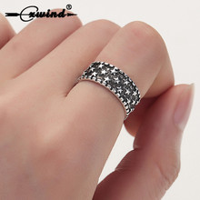 Cxwind Hot Star Ring Jewelry Finger Mid Wide Rings Antique Wedding Adjustable for Women Men Accessories Anillos Punk