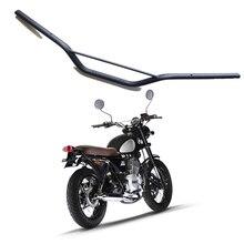 Guidão retrô de modificação de motocicleta, 22mm para rastreador. guidão de direção off road