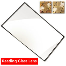 3x a5 plano livro página lupa folha ampliação convinient pvc para leitura lente de vidro