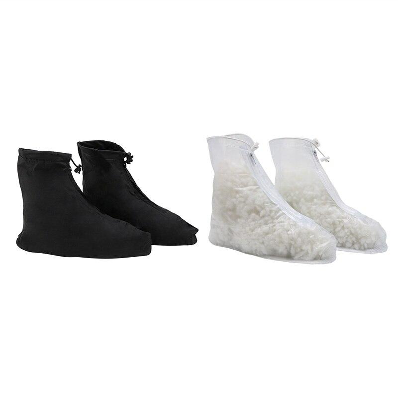 Thinkthendo Wiederverwendbare Regen Getriebe Stiefel Schnee Warme Schuh Abdeckungen Wasserdichte Schuhe Schuh Taille Und Sehnen StäRken Schuhüberzug Schuhzubehör