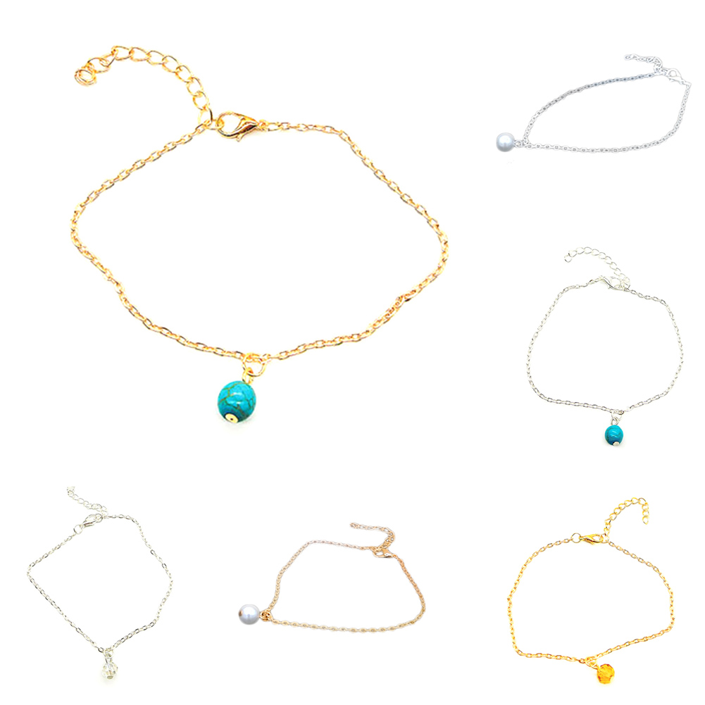 Jewellery & Watches 1pcs Womens Ankle Bracelet Silver Gold