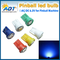 100 unids/lote fantasma contra #555 Hotselling AC 6.3 V #44 5050smd pinball llevó luces fantasma