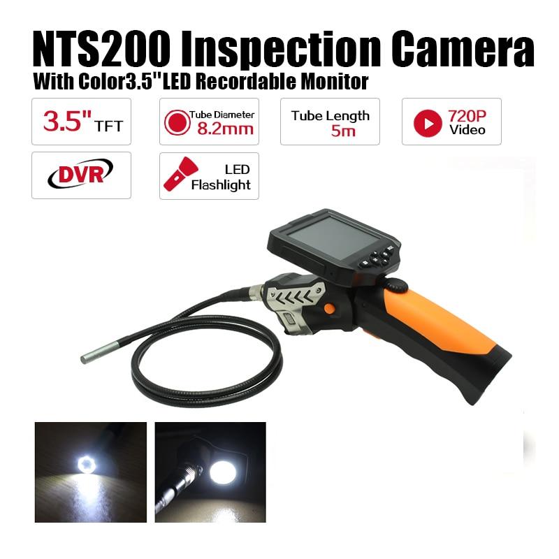 Eyoyo NTS200 3.5 Display Monitor 5M Snake Inspection Endoscope Borescope Tube 8.2mm Camera