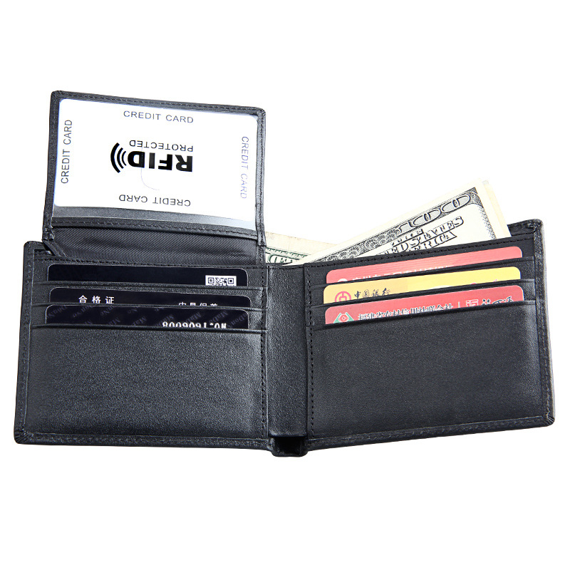 Genuine Crazy Horse Leather Men Wallets 2017 Hot Sale RFID Protection Card Holders Black Short Wallet Male Cluth Purse Carteira men wallet male cowhide genuine leather purse money clutch card holder coin short crazy horse photo fashion 2017 male wallets