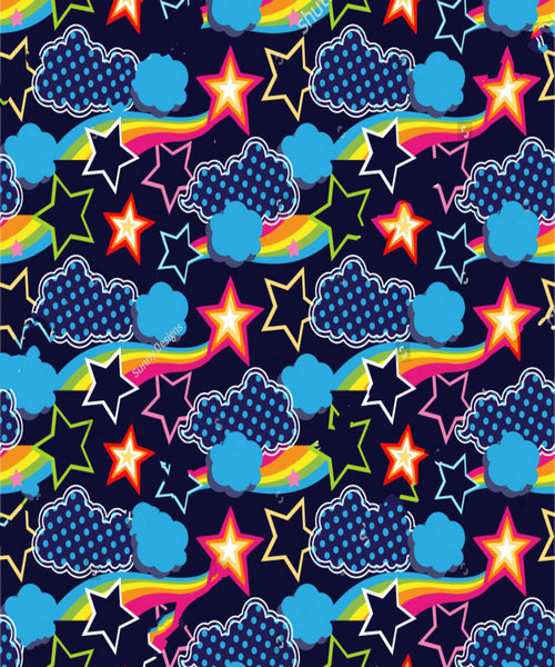 rainbow cloud star backdrops polyester or Vinyl cloth High quality Computer print wall Background
