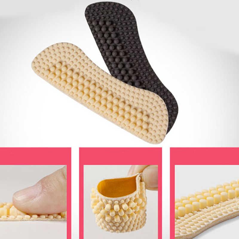 1 par de inserciones de silicona para masaje, almohadillas para zapatos de tela de Gel de sílice adhesivas suaves a la moda