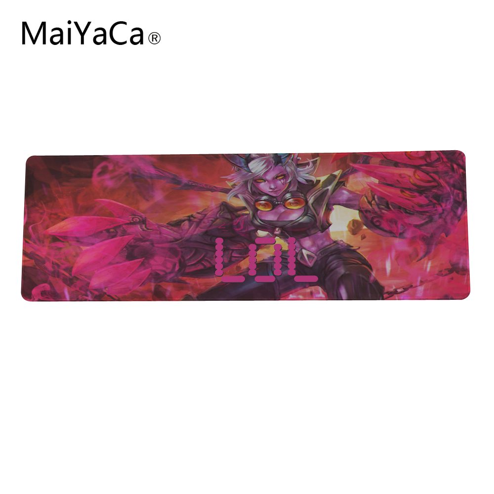 MaiYaCa Legal Jogo red League of Legends hero Custom Design Rectangle Gaming Computer Mouse pads 180x220x2mm ...