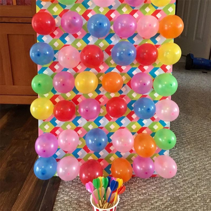 Carnival Games Darts Balloons, 500Pcs Circus Decorations Christmas Balloons with 12Pcs Darts for Carnival Party Supplies | Outdoor Fun & Sports
