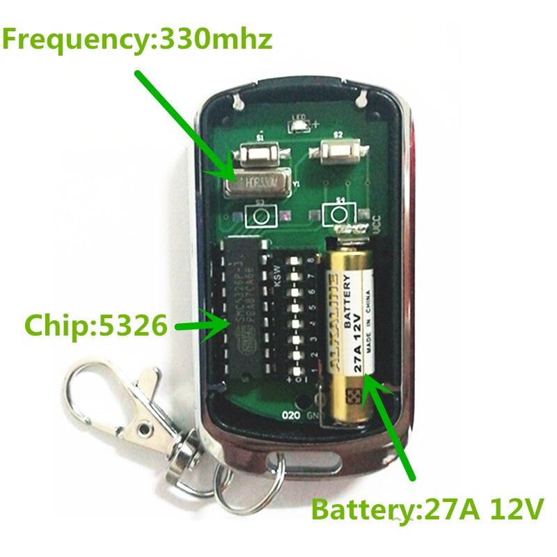 100% Kwaliteit 4 Pcs Maleisië 5326 Dip-schakelaar Universele Garagedeur Afstandsbediening 330 Mhz Gratis Verzending